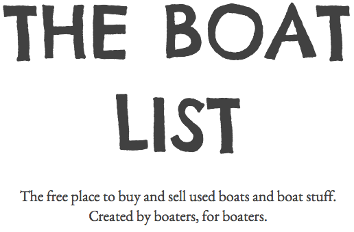 THE BOAT LIST